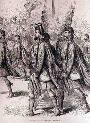 The London Scottish Volunteers, from 'The Illustrated London News', 7th September 1881