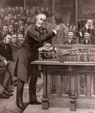 Mr. Gladstone Explaining to the House of Commons his Scheme for the Government of Ireland, from 'The Illustrated London News', 17th April 1886