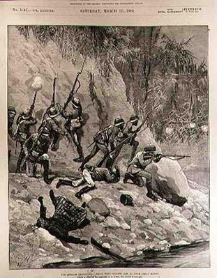 The Burmah Expedition: Fight with Dacoits, January 12th, near Shoay Green, from 'The Illustrated London News', 13th March 1886