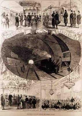 The Prince of Wales Opening the Mersey Tunnel, from 'The Illustrated London News', 30th January 1886