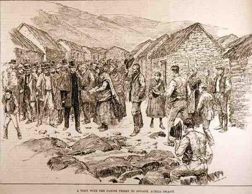 The Distress in the West of Ireland: A Visit with the Parish Priest to Dooagh, Achill Island, from 'The Illustrated London News', 4th October 1886