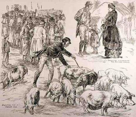 Boycotting in Ireland, from 'The Illustrated London News', 4th October 1886