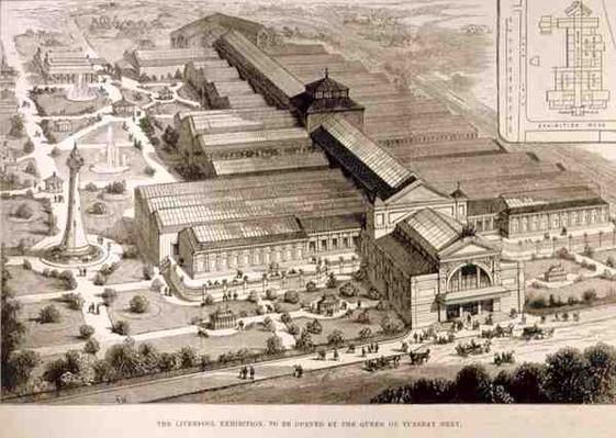The Liverpool Exhibition, to be Opened by the Queen, from 'The Illustrated London News', 5th August 1886
