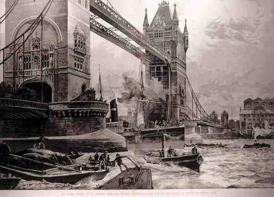 The Tower Bridge, to be Erected Over the Thames: Foundation Stone Laid by the Prince of Wales on Monday Last, from 'The Illustrated London News', 26th June 1886