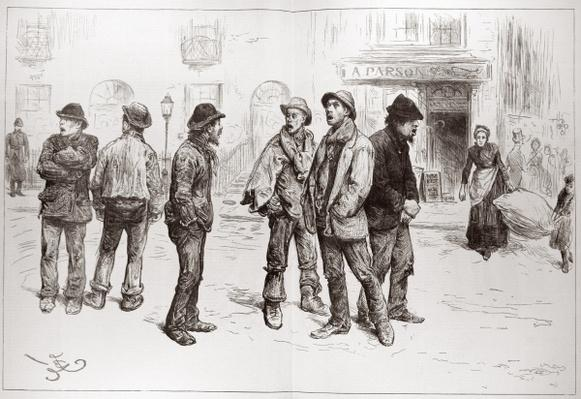 The Unemployed of London: 'We've Got No Work to Do', from 'The Illustrated London News', 20th February 1886