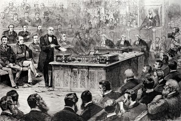 The House of Commons on Thursday April 8th: The Debate on the Government of Ireland, from 'The Illustrated London News', 17th April 1886