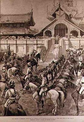 Our Troops in Burmah: Reception of General F. Roberts in Mandalay at the East Gate of the Palace