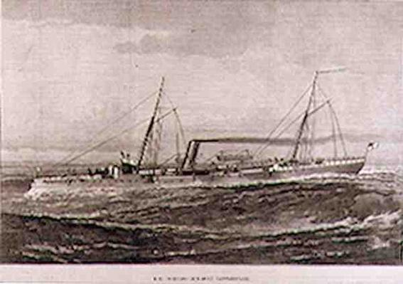 H.M. Torpedo Gun-Boat 'Rattlesnake', from 'The Illustrated London News', 26th February 1887