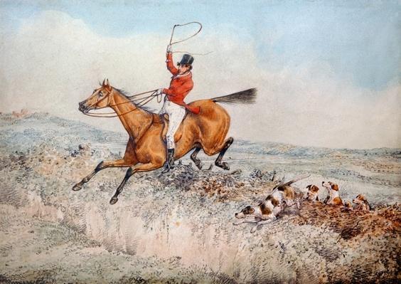 Fox hunting, 1837