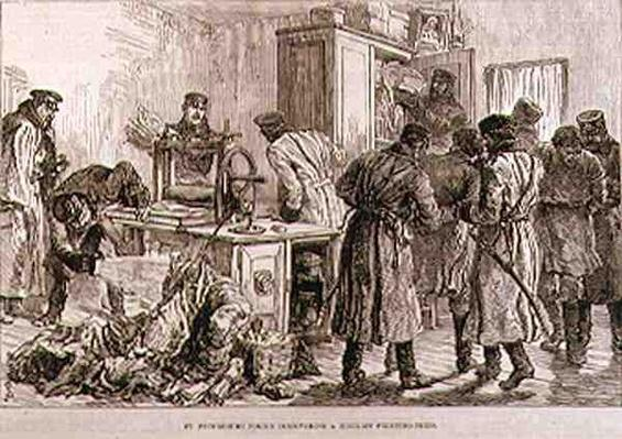 St. Petersburg Police Discovering a Nihilist Printing Press, from 'The Illustrated London News', 16th April 1887