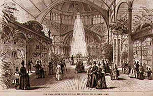 The Manchester Royal Jubilee Exhibition: The Central Dome, from 'The Illustrated London News', 7th May 1887