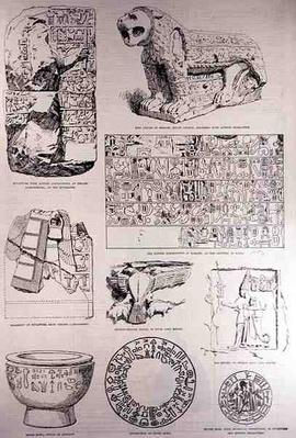 Specimens of the Hittite Inscriptions, from 'The Illustrated London News', 26th March 1887