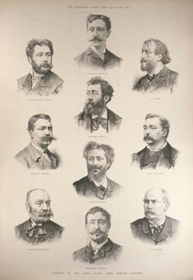 Opening of the Paris Salon: Some French Painters, from 'The Illustrated London News', 30th April 1887