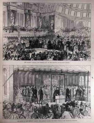 Her Majesty Opening the Queen's Hall of the People's Palace and Laying the First Stone of the Technical Schools