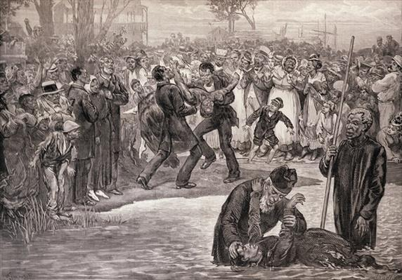 Negro Baptism in the United States, from 'The Illustrated London News', 21st May 1887
