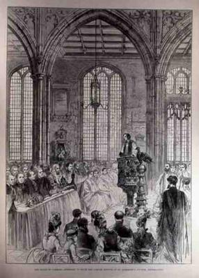 The House of Commons Attending in State the Jubilee Service at St. Margaret's Church, Westminster, from 'The Illustrated London News', 28th May 1887
