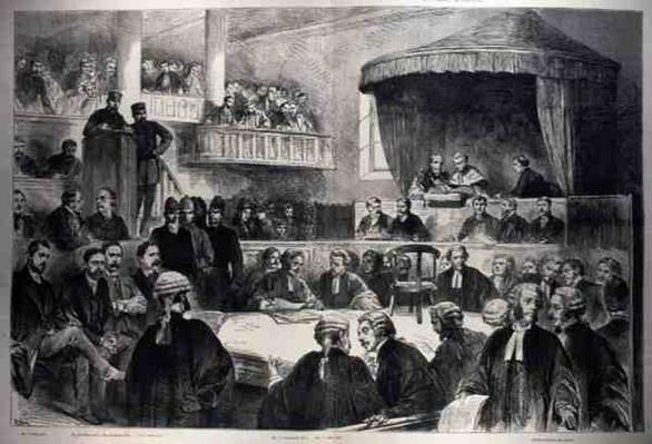The State Prosecutions in Ireland: The Scene in Green Street Court House, Dublin, from 'The Illustrated London News', 26th February 1887
