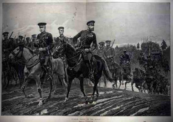 Russian Troops on the March, from 'The Illustrated London News', 5th March 1887