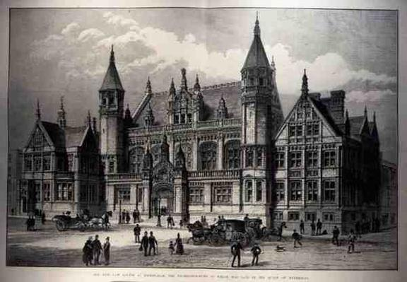 The New Law Courts at Birmingham, the Foundation Stone of which was Laid by the Queen, from 'The Illustrated London News', 26th March 1887