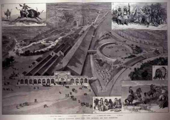 The American Exhibition, Earl's Court, West Brompton and West Kensington, from 'The Illustrated London News', 16th April 1887