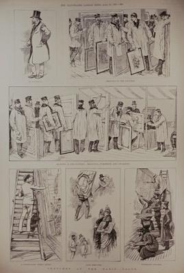Sketches at the Paris Salon, from 'The Illustrated London News', 23rd April 1887