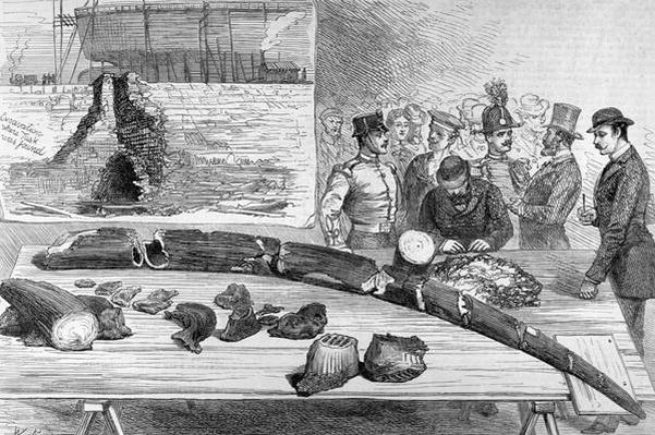 Discovery of Fossil Remains at Leghorn, Tuscany, from 'The Illustrated London News', 21st January 1882