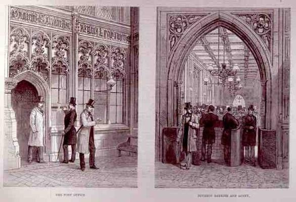 The House of Commons: The Post Office and the Division Barrier and Lobby, from 'The Illustrated London News', 18th February 1882