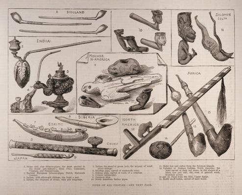Pipes of all Peoples, from 'The Illustrated London News', 25th February 1882