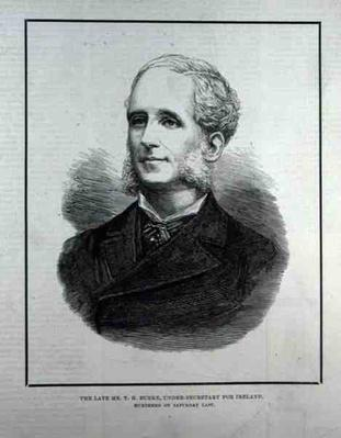 The Late Mr. T. H. Burke, Under-Secretary for Ireland, from 'The Illustrated London News', 13th May 1882