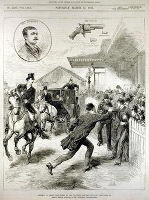 Attempt to Shoot the Queen at the Windsor Railway Station, from 'The Illustrated London News', 11th March 1882