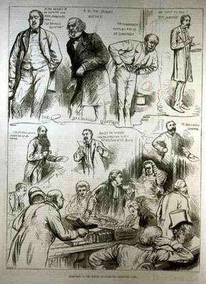 Sketches in the House of Commons: Question Time, from 'The Illustrated London News', 18th February 1882