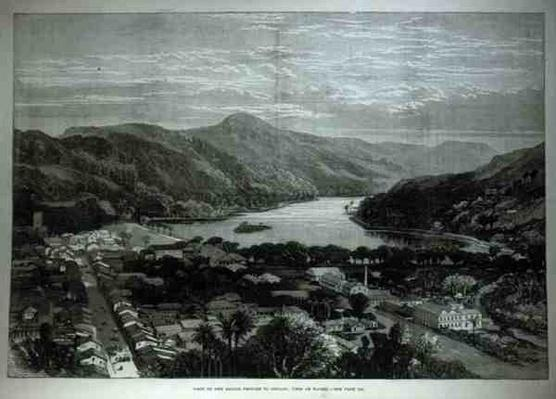 Visit of the Sailor Princes to Ceylon: View of Kandy, from 'The Illustrated London News', 11th February 1882