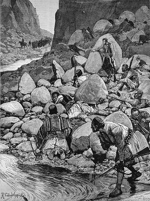 The Insurrection in Herzegovina: An Ambuscade, from 'The Illustrated London News', 1st April 1882