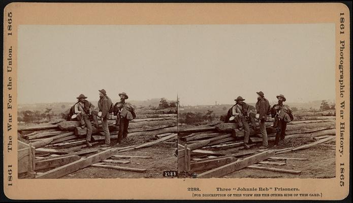 "Three ""Johnnie Reb"" Prisoners, Captured at Gettysburg 