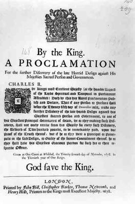 A Proclamation by the King