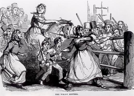 The Welsh Rioters, from The Illustrated London News, 11 February 1843