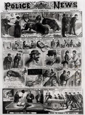 Incidents Relating to the East End Murders, from 'The Illustrated Police News', 20th October 1888