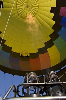 Hot Air Balloon, Propane Flame. Boulder, Colorado | Earth's Resources