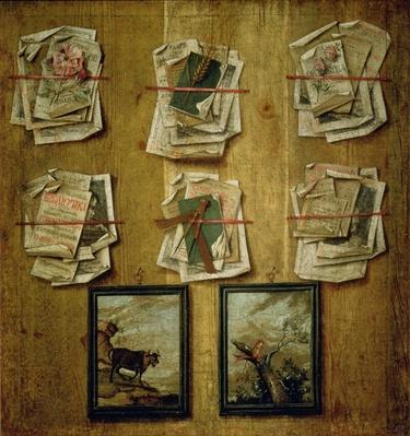 Still Life with Book Sheets and Pictures, 1783