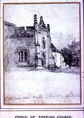 Porch of Feering Church, 28th June, 1814