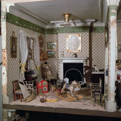 Nursery with toys from 'Miss Miles' House', 1890