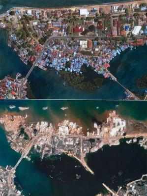 Sumatra before and after | Natural Disasters: Hurricanes, Tsunamis, Earthquakes