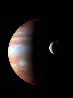 Jupiter and its volcanic moon Io | Earth and Space