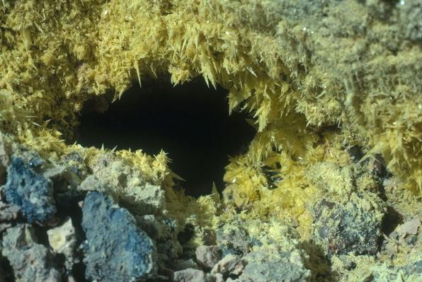 Sulfur Crystals Deposited Around Solfatara - Kilauea Crater, Hawaii | Earth's Surface