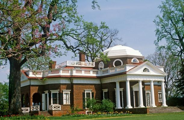 Monticello, Thomas Jefferson's estate near Charlottesville, Virginia | Famous American Architecture