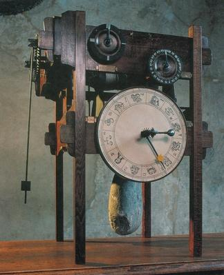 Model of a clock based on a drawing by Leonardo da Vinci | Pre-Industrial Revolution Inventors and Inventions