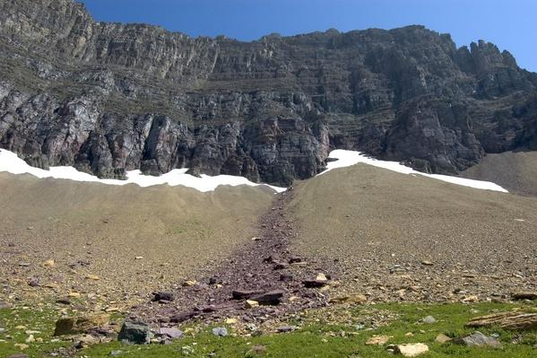 Differentiated Scree Slope of Rock - Glacier National Park | Earth's Surface