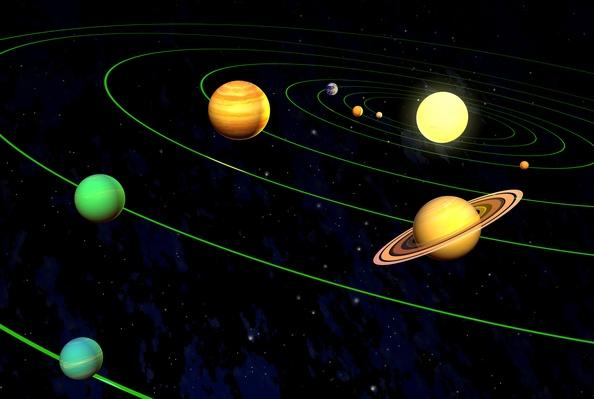 The new solar system (minus Pluto) | Earth and Space