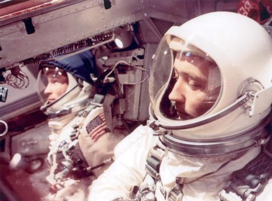 Astronauts inside the Gemini IV spacecraft | NASA Missions and Milestones in Space Flight