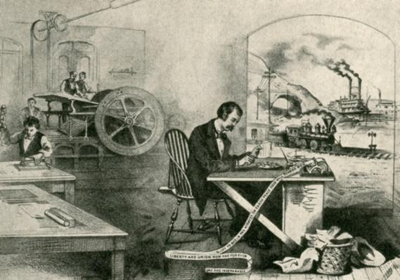 Important Inventions (Artwork from 1876)   Industrial Revolution